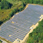 Stow, MA solar project aerial view