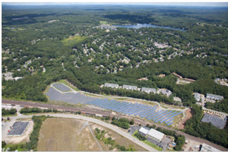 Leominster, MA Solar Project aerial view 2