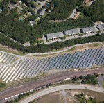 Leominster, MA solar project aerial view